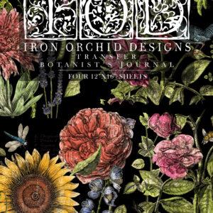 IOD Transfer decorativ Botanist's Journal set de 4 pagini A3